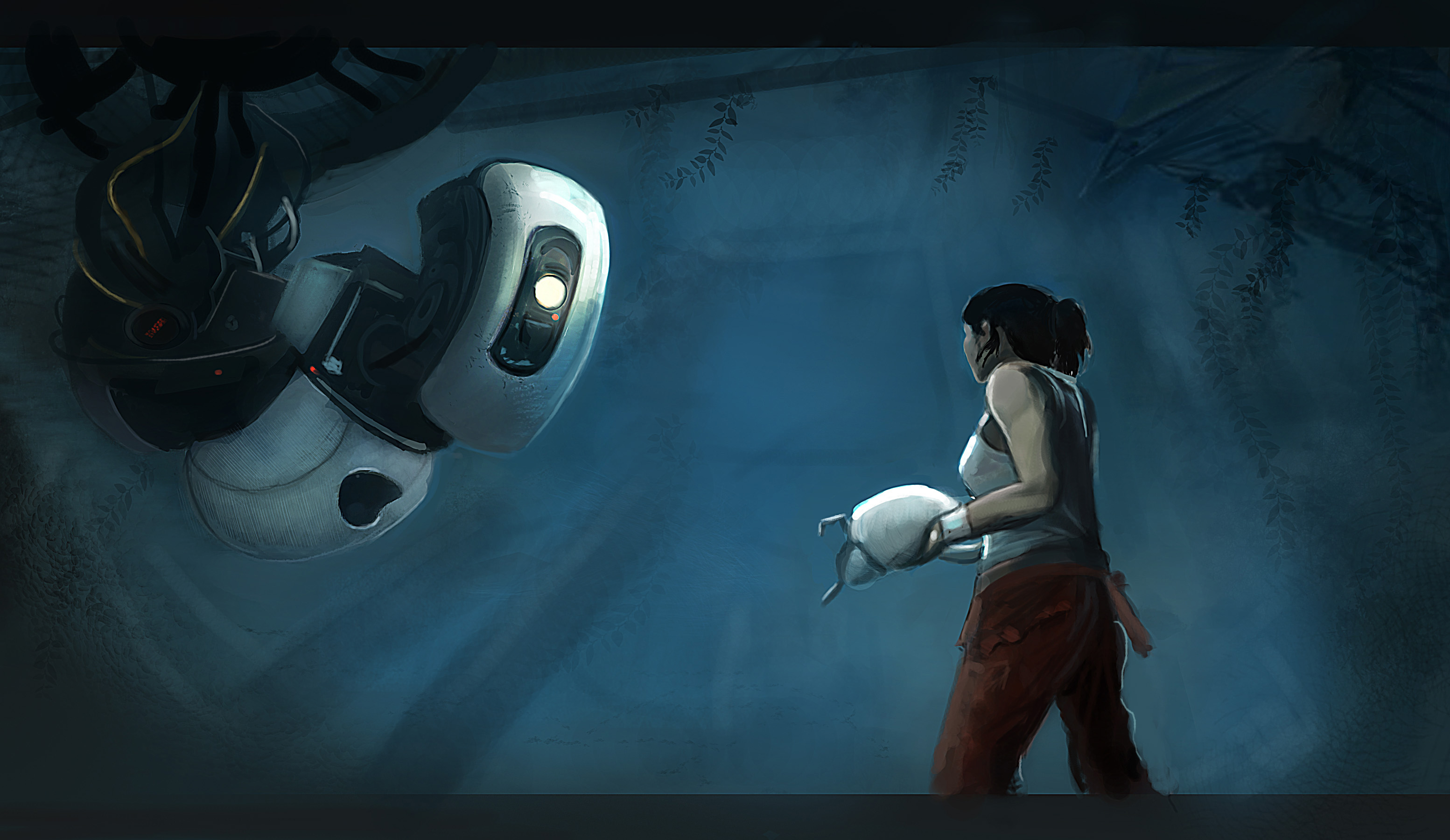 Portal glados and chell girls in mech suits portal glados and chell voltagebd Images